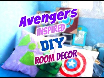 AVENGERS INSPIRED DIY ROOM DECOR + GIVEAWAY!!