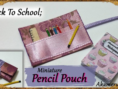 Back To School; Miniature roll up Pencil Pouch & Ruler - Fabric.wood tutorial
