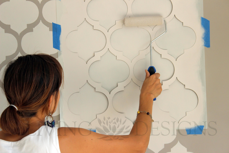Como Pintar Y Decorar Paredes Con Plantillas - Pintar-y-decorar-paredes
