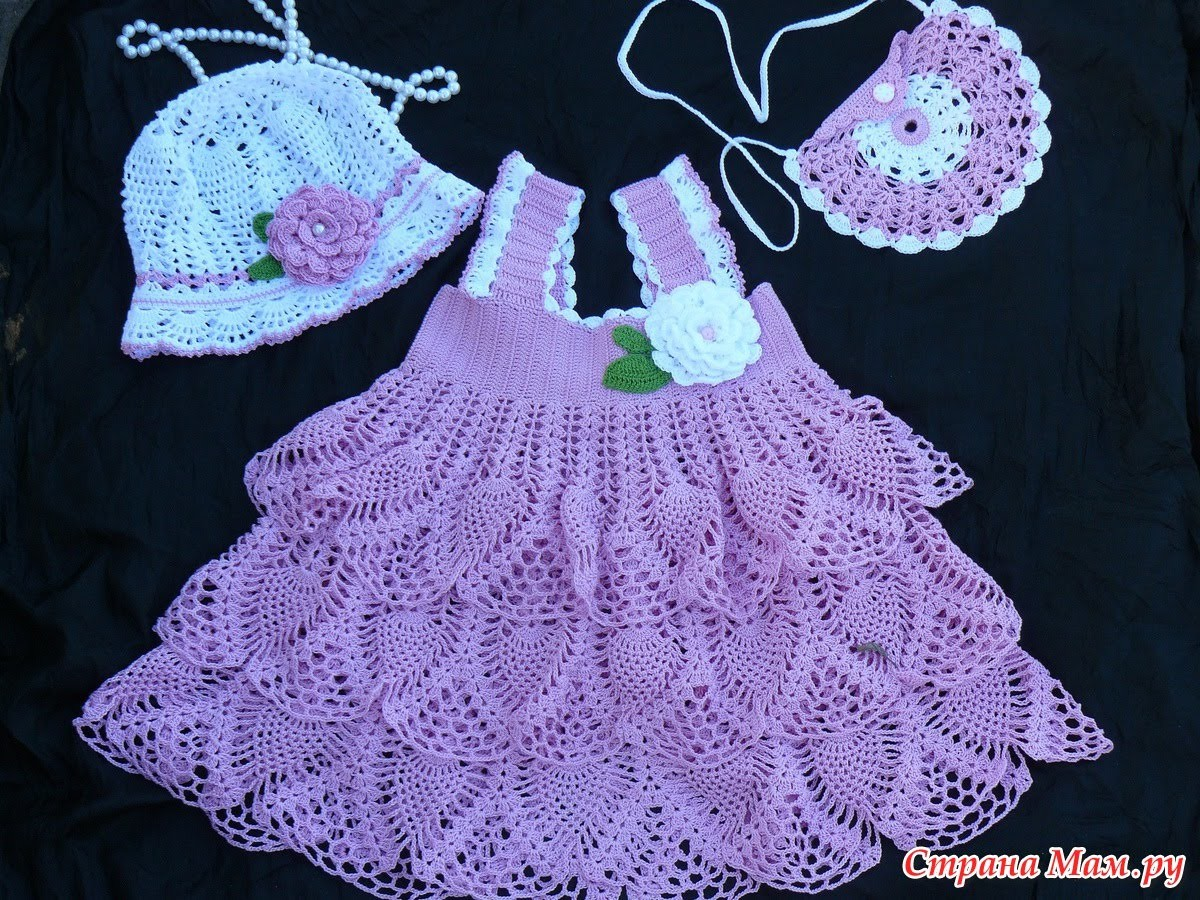 Crochet baby dress| How to crochet an easy shell stitch baby. girl's dress for beginners 212