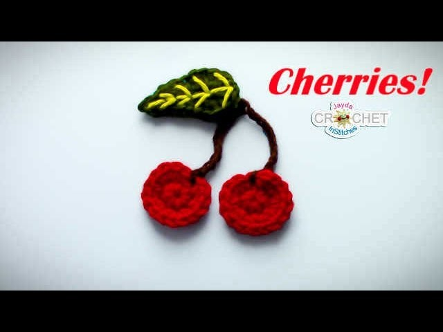 Crochet Cherries Applique Tutorial - Back To School Fun!