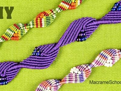 Diamond Leaf Bracelet - Macrame Tutorial
