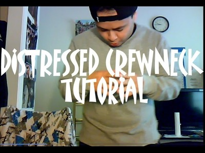 DIY: How to Create a Distressed Crewneck With A Split Hem Tutorial