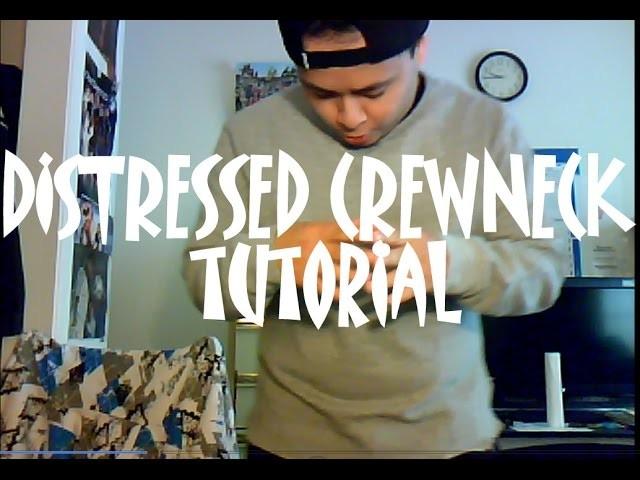 DIY: How to Create a Distressed Crewneck With A Split Hem Tutorial