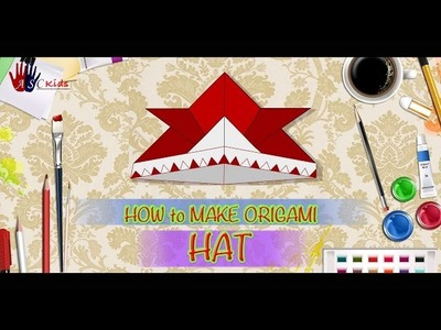 DIY - How To Make Origami Hat | Creative Origami Art Work | Easy Drawing Steps