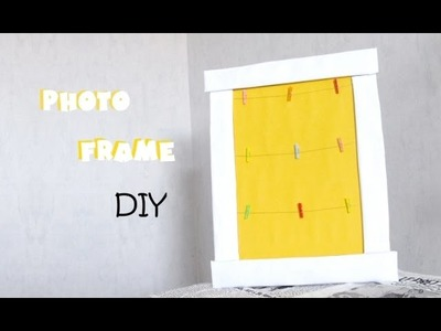 [DIY n°5] photo frame with cardboard