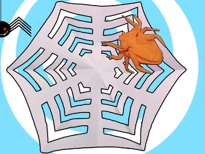 DIY: Paper Kirigami Spider Web Tutorial