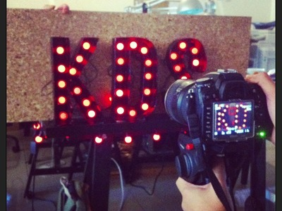 DIY Project - Vintage Marquee Lights