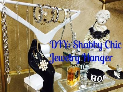 DIY:  Shabby Chic Jewelry Hanger Holder