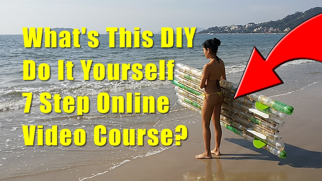 DIY Stand Up Paddle Board - 7 steps to build an ecofriendly stand up paddle board of PET Bottles