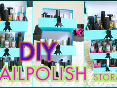 DIY Storage Ideas | Nail Polish Storage Using Beauty Boxes