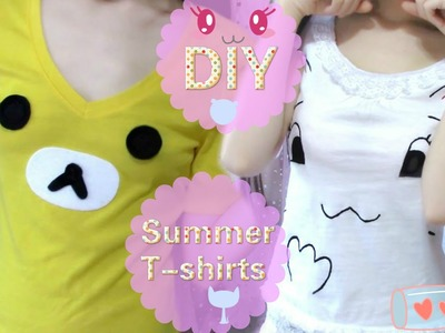 DIY Summer T Shirts   Rilakkuma+Neko   No sew