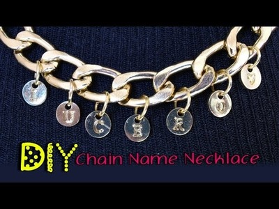 DIY Super EASY Chain Name Necklace || Lucykiins