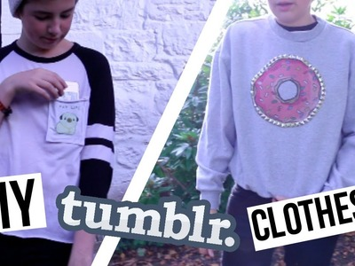 DIY Tumblr Inspired Clothes for Fall! Cheap & No-Sew