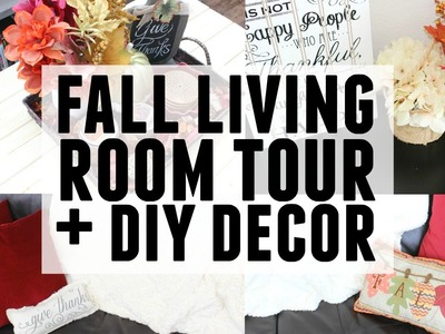 Fall Living Room Tour + DIY Fall Decor | Decorate With Me
