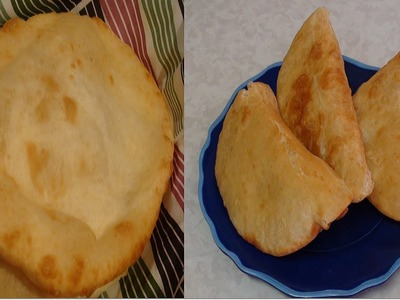 Homemade Chalupa Bread recipe video- Indian Fried Bread known as Bhature