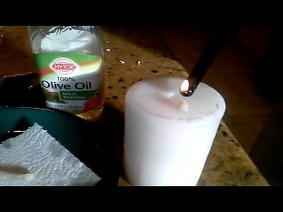 Homemade Olive Oil Candle Wick & Burn Test
