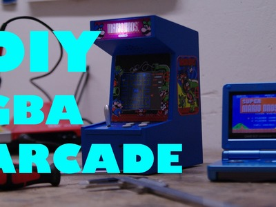 How to build a GBA arcade cabinet: Nintendo Gameboy DIY (DE)