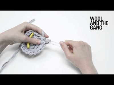 How to crochet a flat circle
