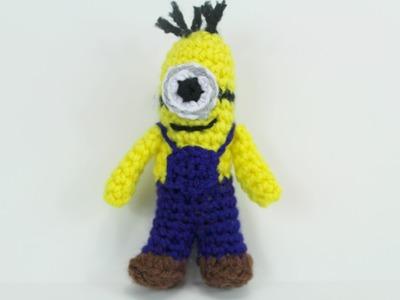 How to crochet Mini Minion Video 3 - Yolanda Soto Lopez
