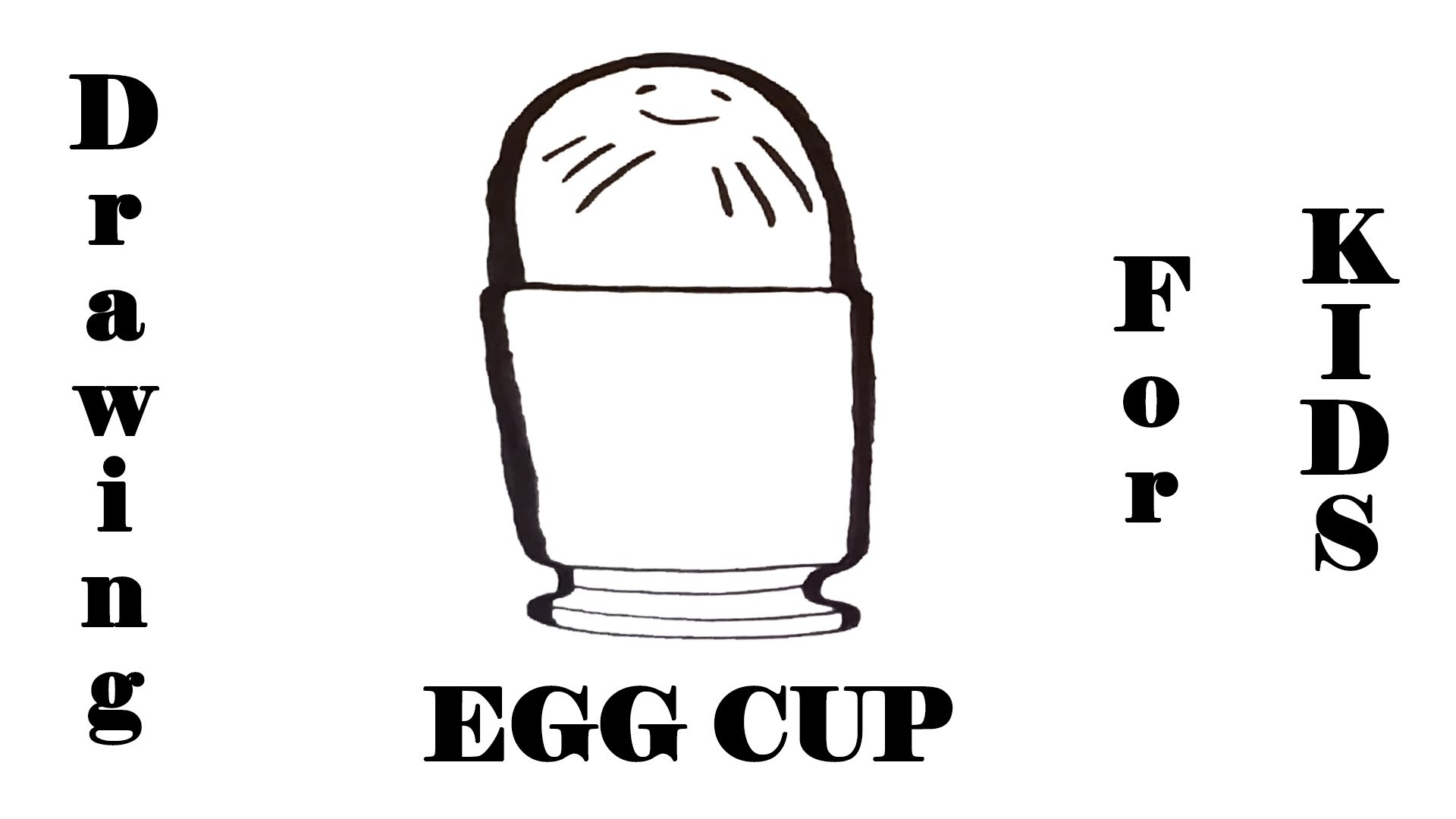 How to draw an EGG Cup with Pencil STEP BY STEP EASY-Egg holder, draw easy stuff but cool