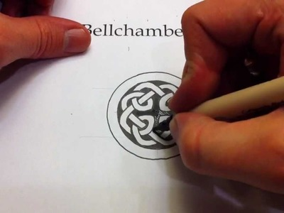 How to Draw Celtic Knots 22 - Celtic Cross Knot 3.3 from the Book of Kells
