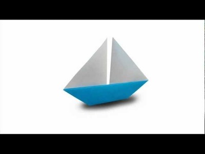 How to fold an Origami Sailboat