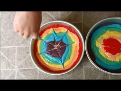 How to Make a Rainbow Tie-Dye Cake