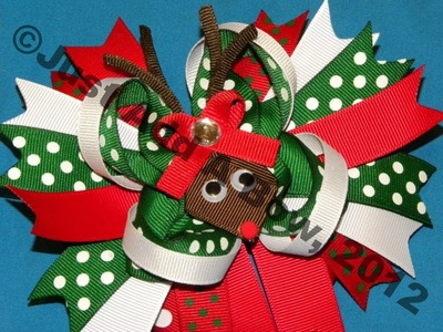 HOW TO: Make a Reindeer out of Ribbon by Just Add A Bow