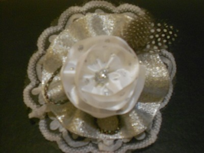 How to Make a Vintage Hairbow - Clip - Brooch Tutorial