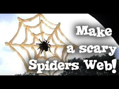 How to Make Cobwebs - Halloween Craft - Spider Web Party Decor Prop Tutorial