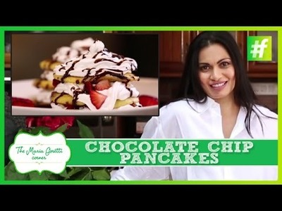 How to Make Valentine's Day Special Chocolate Chip Pancakes | Maria Goretti
