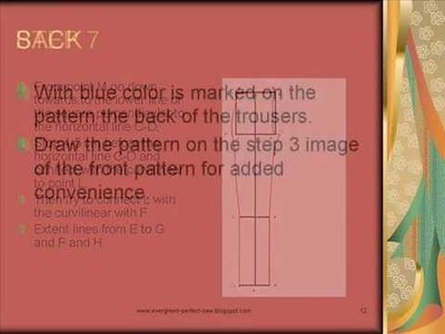 HOW TO MAKE YOUR OWN PERFECT FIT PANTS PATTERN.wmv