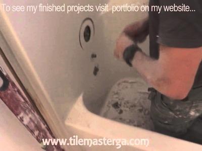 How to remove tub, fiberglass shower enclosure demo, tear-out