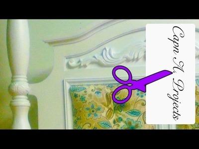 How To Upholster a HEADBOARD (Como RENOVAR un Cama cc en Español)
