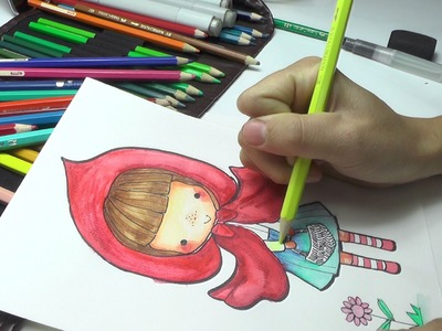 Little Red Riding Hood - How To Draw Easy Step by Step DIY