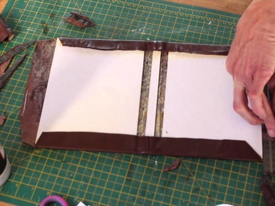 Making a Leather bound Hardcover Notebook.