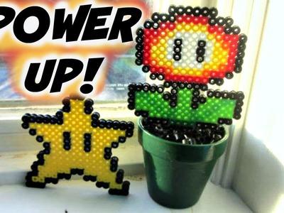 Mario Power Up Perler Bead Sprites: Super Star & Fire Flower