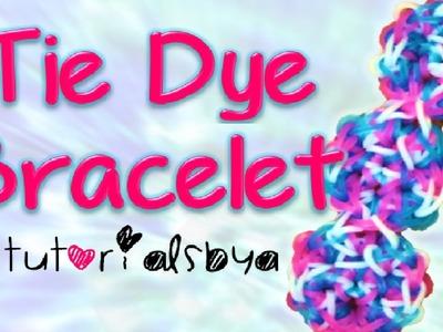 NEW Tie Dye Bracelet Rainbow Loom Tutorial