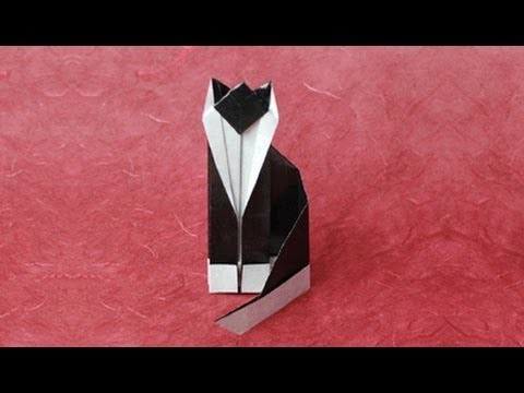 Origami Cat Instructions: www.Origami-Fun.com
