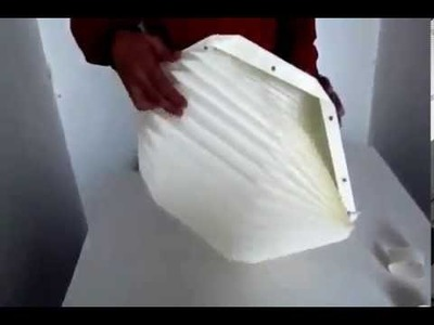 Origami paper lamp assembly instructions.