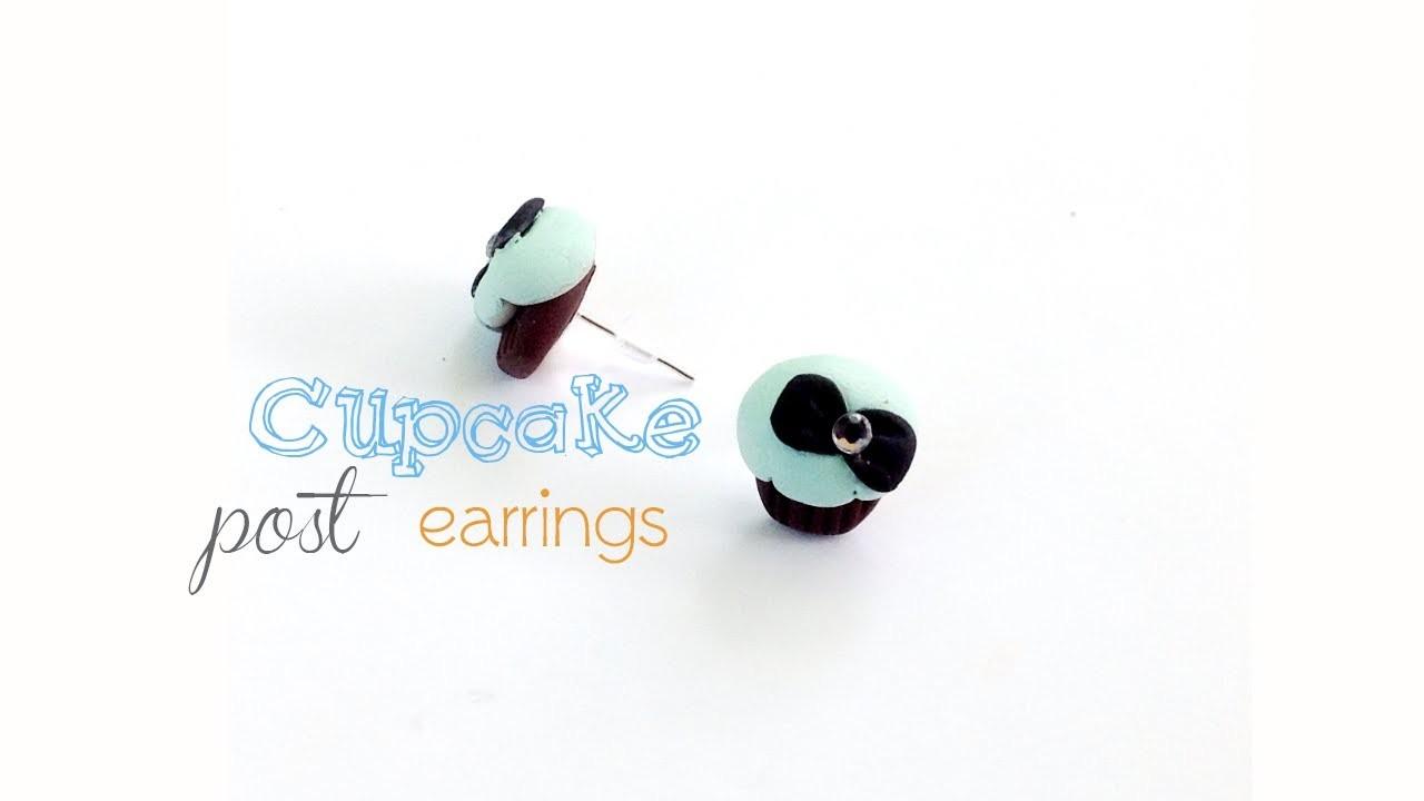 Polymer Clay Cupcake Earrings - How to Make Tiffany Cupcake Post Earrings