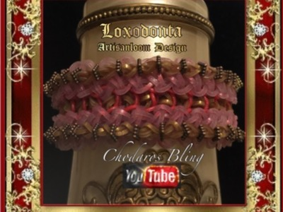 Rainbow Loom Band Loxodonta Bracelet Tutorial. How To
