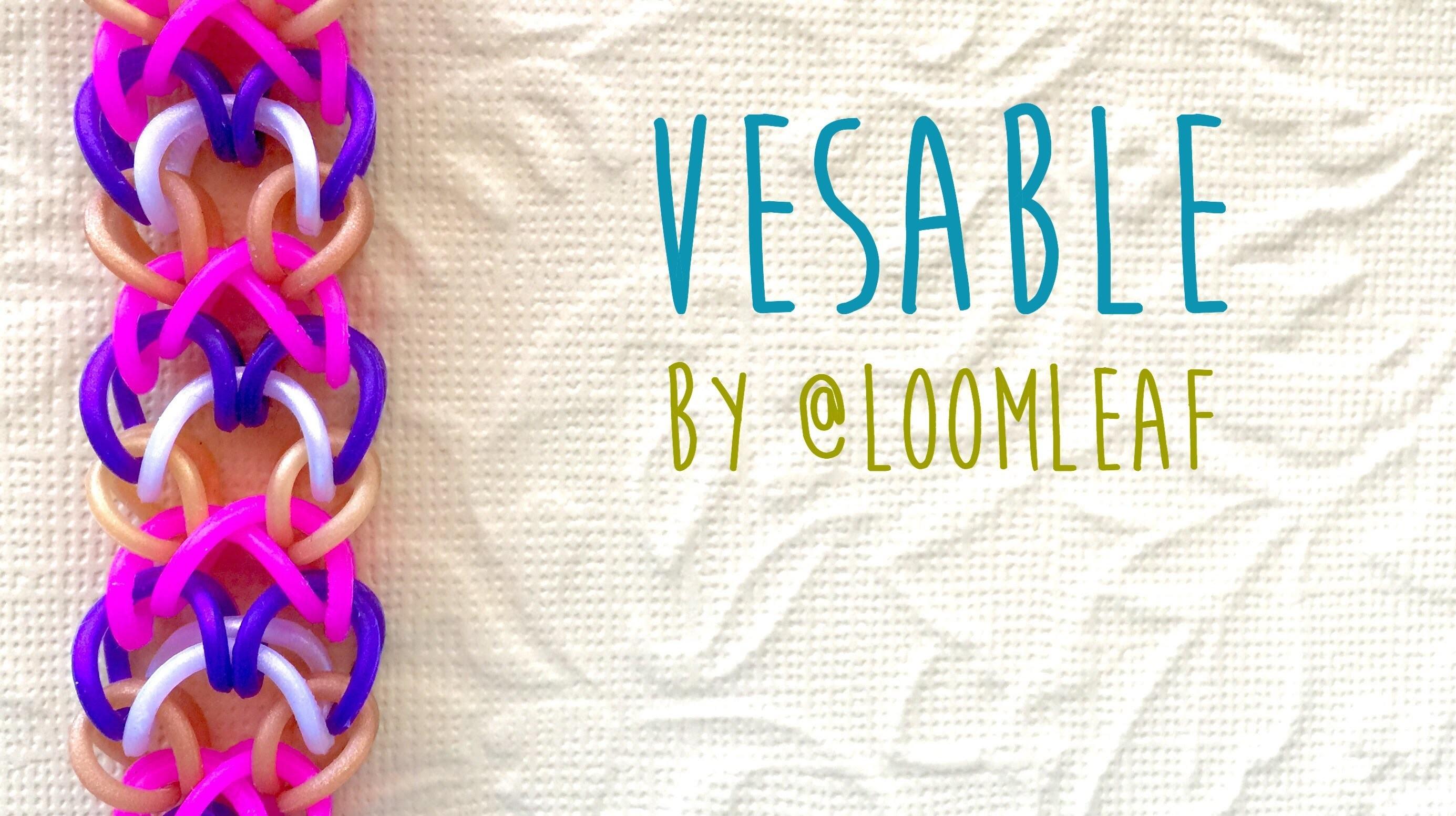 Rainbow Loom Bands Vesable by @LoomLeaf tutorial