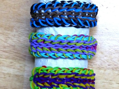 "Rainbow Loom Bracelet - Original Design - ""CHAIN GANG"" (ref # 4mm))"