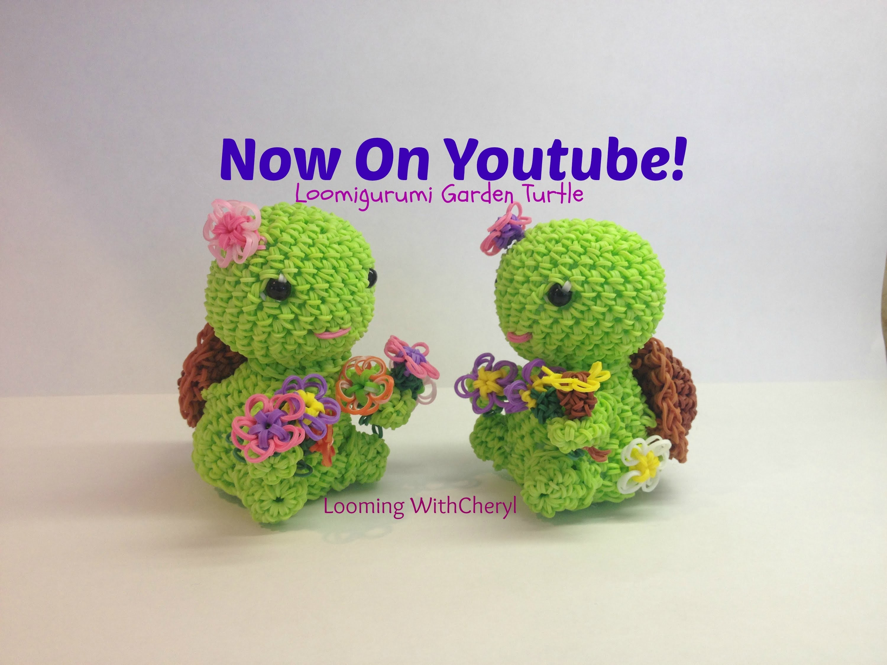 Rainbow Loom Garden Turtle - Loomigurumi - Looming WithCheryl