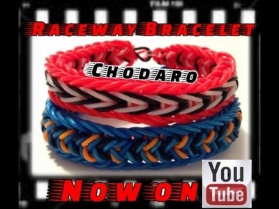 Rainbow Loom Monster Tail Raceway Bracelet Tutorial. How to