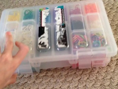 Rainbow Loom rubber band collection