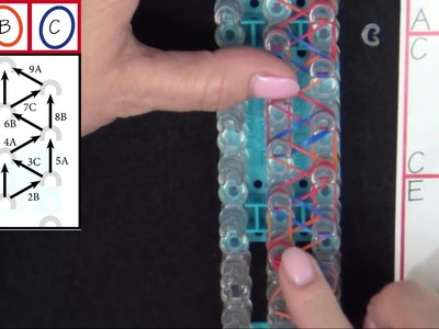 Rainbow Loom: Speckled Rhombus Bracelet Tutorial