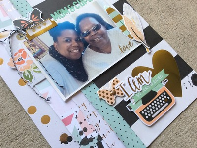 Scrapbook Process Video #38 - I Am. Blessed!